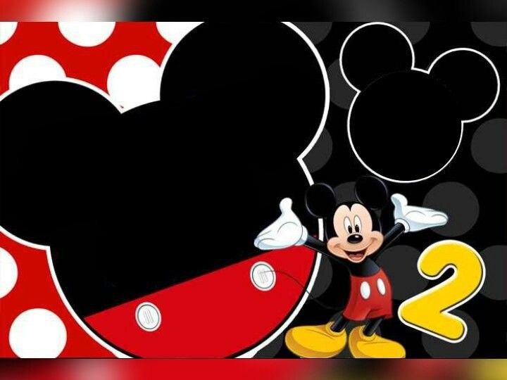 Mickey Mouse Birthday Invitations Template Mickey Mouse 2nd Birthday Invitation Template