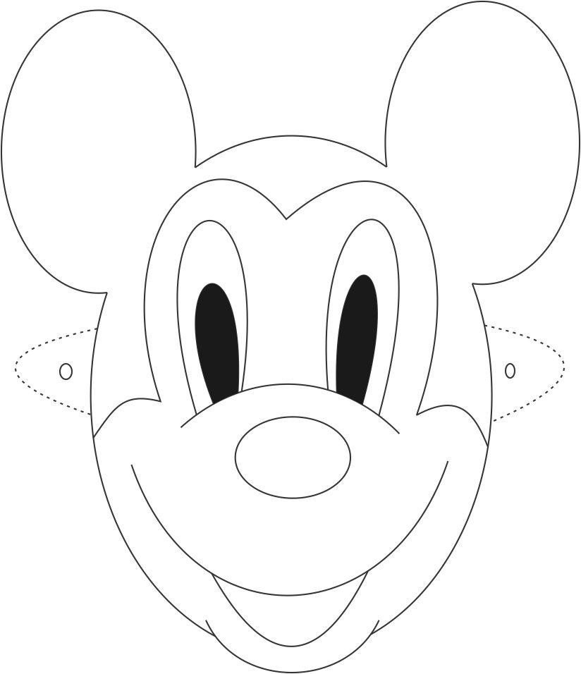 Mickey Mouse Face Template Free Mickey Mouse Face Outline Download Free Clip Art