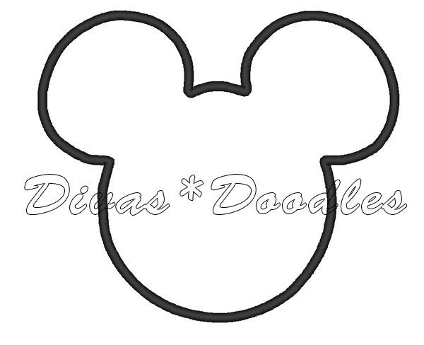 Mickey Mouse Face Template Mickey Mouse Face Outline Cliparts