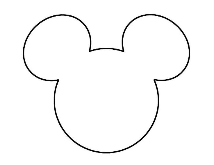 Mickey Mouse Face Template Mickey Mouse Template