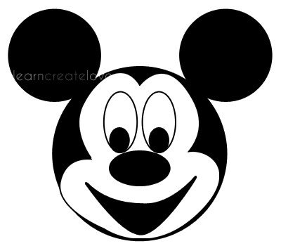 Mickey Mouse Face Template Printable Mickey Mouse Craft