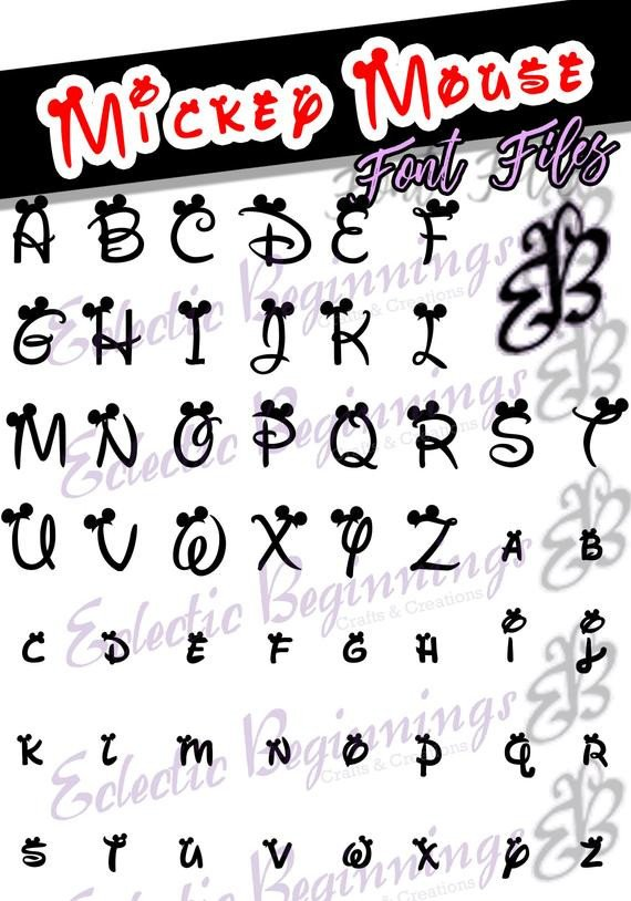 Mickey Mouse Font Free Font Ttf Otf Files Disney Mickey Mouse Ears Letters Alphabet