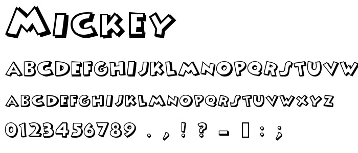 Mickey Mouse Font Free Mickey Free Font Download Font Supply