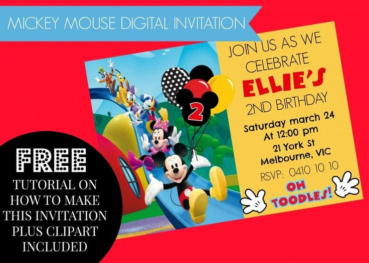 Mickey Mouse Invitation Maker 17 Best Images About Diy Mickey Mouse Clubhouse Party