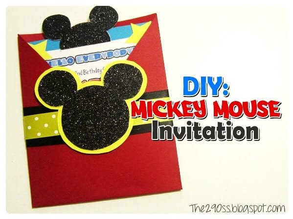 Mickey Mouse Invitation Maker 29 Mickey Mouse Birthday Party Ideas Spaceships and