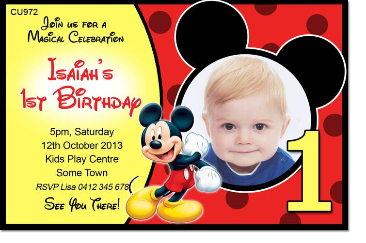 Mickey Mouse Invitation Maker 40th Birthday Ideas Birthday Invitation Maker Mickey Mouse