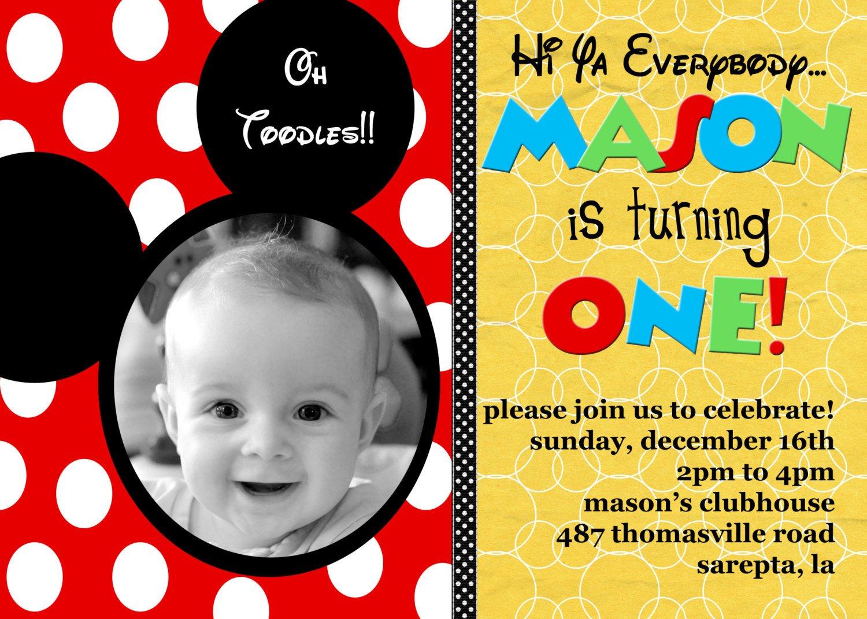 Mickey Mouse Invitation Maker Custom Birthday Invitations Ideas – Bagvania Free