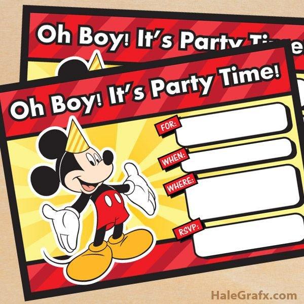 Mickey Mouse Invitation Maker Free Printable Mickey Mouse Birthday Invitation
