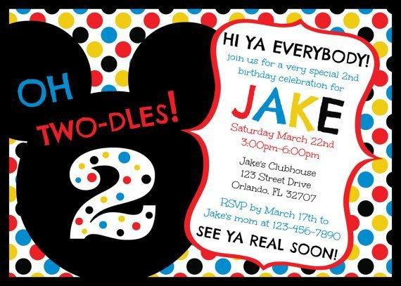 Mickey Mouse Invitation Maker Free Printable Mickey Mouse Clubhouse Birthday Invitations