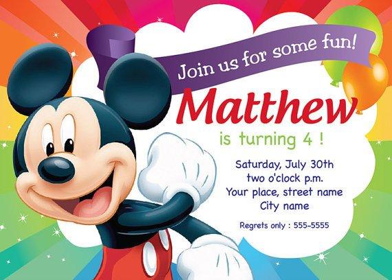 Mickey Mouse Invitation Maker Mickey Mouse Birthday Invitation Card by
