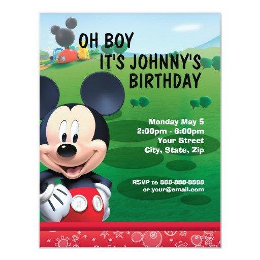 Mickey Mouse Invitation Maker Mickey Mouse Birthday Invitation