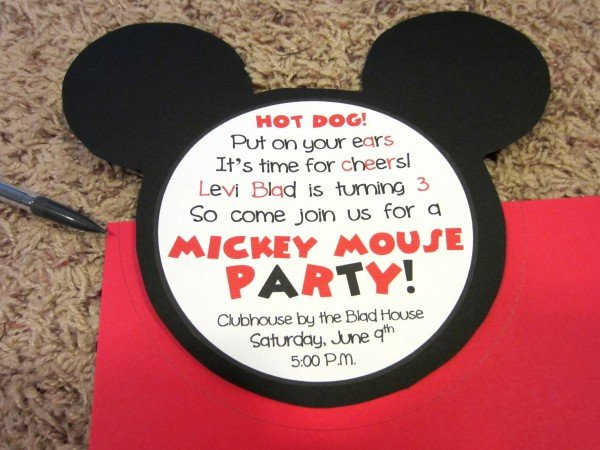 Mickey Mouse Invitation Maker Mickey Mouse Invitations Love to Be In the Kitchen
