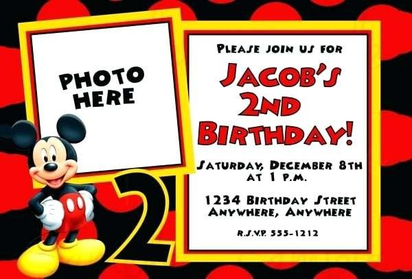 Mickey Mouse Invitation Maker Mickey Mouse Invitations Template and Invitation Templates