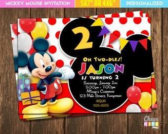 Mickey Mouse Invitation Maker Mickey Mouse Invite