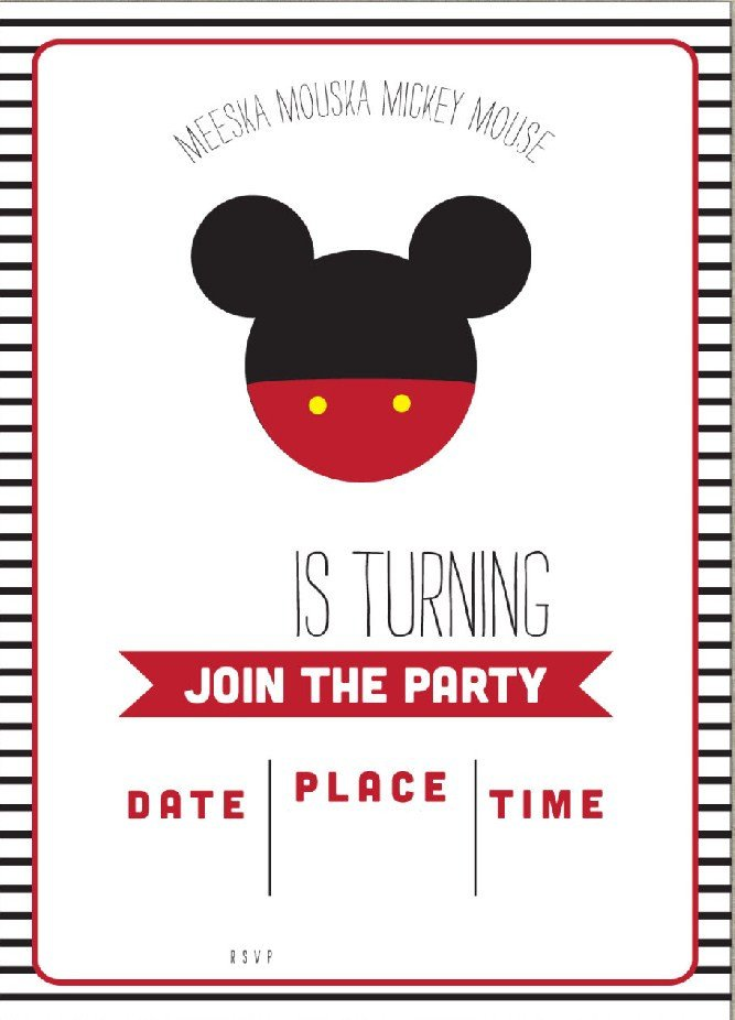 Mickey Mouse Invitation Template Free Mickey Mouse Clubhouse Birthday Invitations – Free
