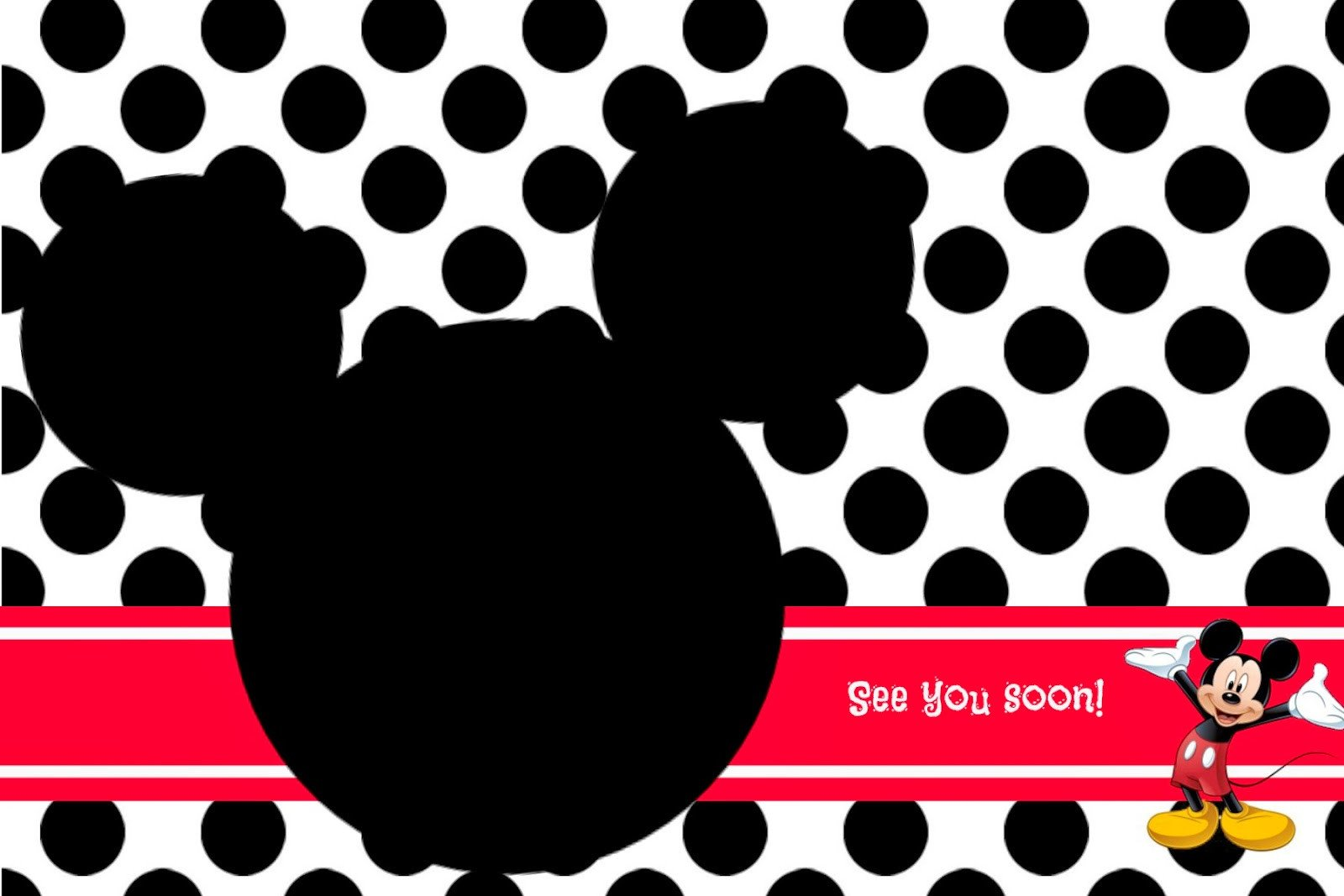Mickey Mouse Invitation Template Random Ramblings