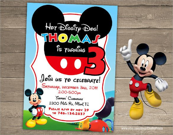 Mickey Mouse Invitation Template Sample Mickey Mouse Invitation Template 13 Download