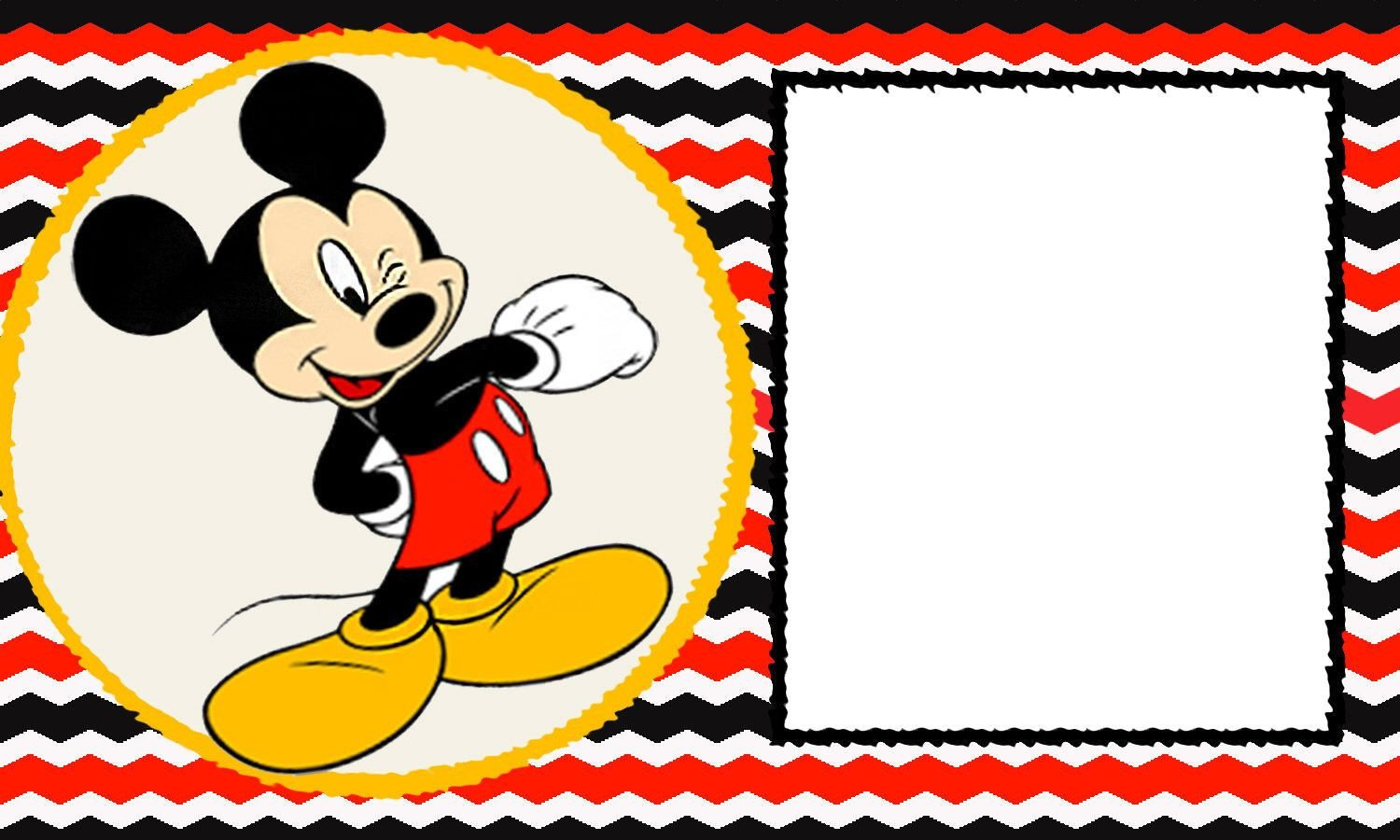 Mickey Mouse Invitations Template Free Blank Mickey Mouse 1st Invitation Chevron Template
