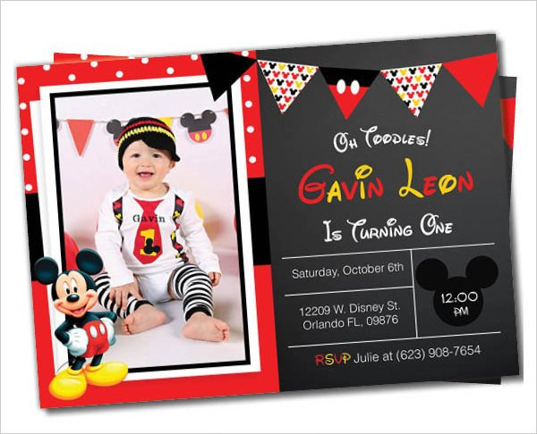 Mickey Mouse Invitations Template Mickey Mouse Invitation Templates – 26 Free Psd Vector
