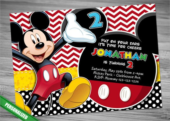 Mickey Mouse Invitations Template Sample Mickey Mouse Invitation Template 13 Download