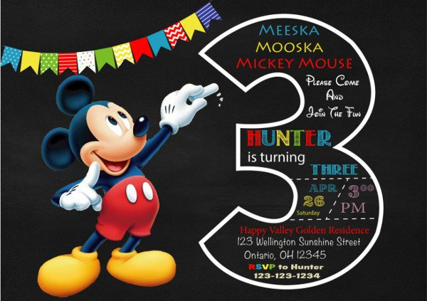 Mickey Mouse Invitations Templates 9 Mickey Mouse Invitations Free Psd Jpg Vector format