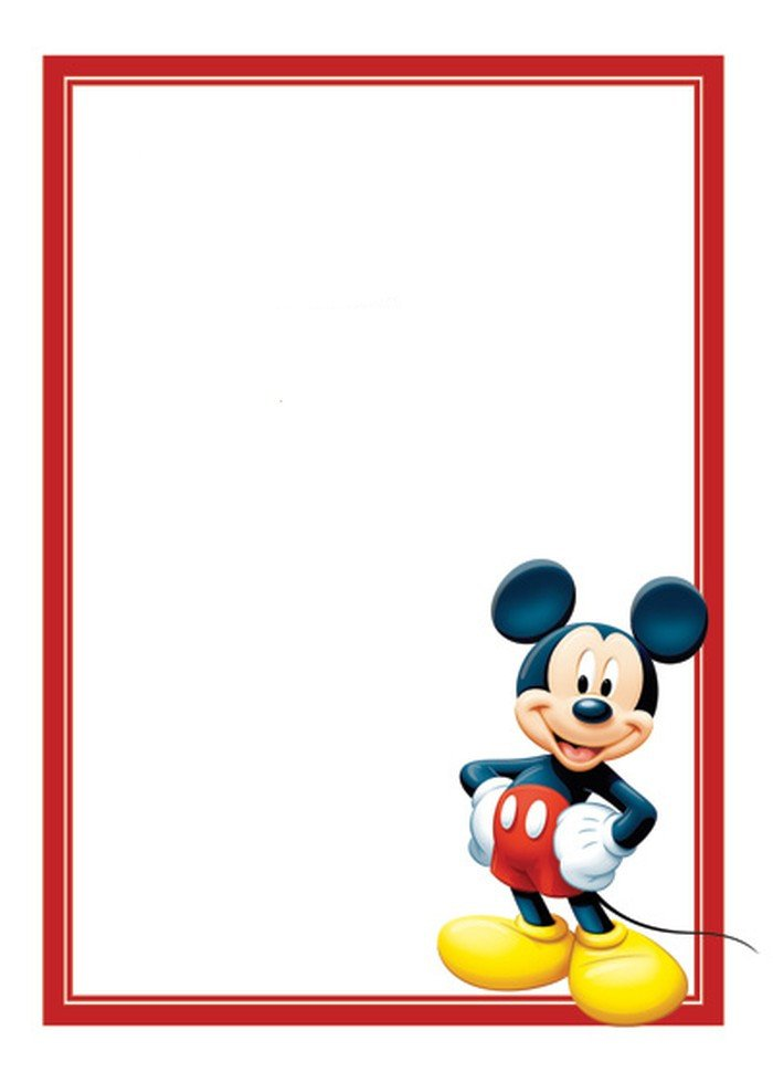 Mickey Mouse Invitations Templates Free Mickey Mouse Invitations Template