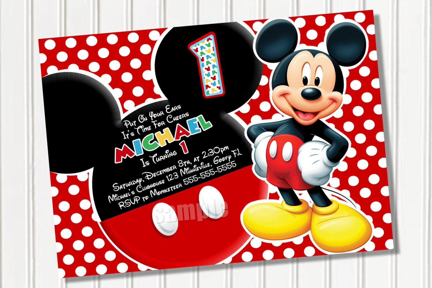 Mickey Mouse Invitations Templates Free Mickey Mouse Template Download Free Clip Art Free
