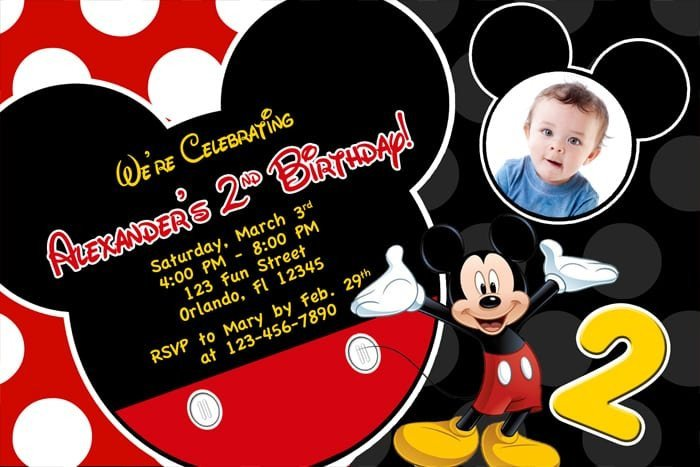Mickey Mouse Invitations Templates Free Printable Birthday Invitations Mickey Mouse
