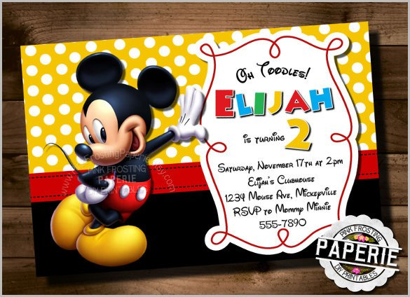 Mickey Mouse Invitations Templates Mickey Mouse Invitation Templates – 26 Free Psd Vector