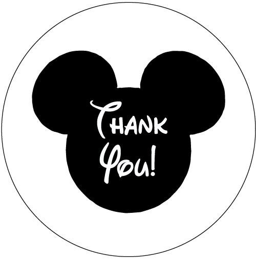 Mickey Mouse Thank You Images 30 Mickey Mouse Birthday Party Invitation Stickers Thank