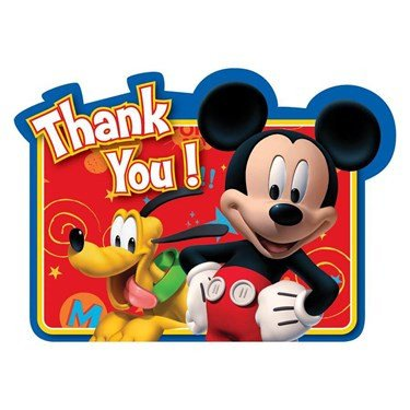 Mickey Mouse Thank You Images Disney Mickey Fun and Friends Thank You Notes