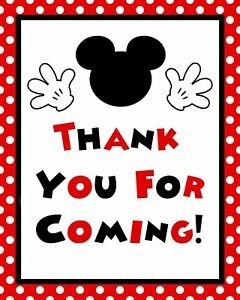 Mickey Mouse Thank You Images Disney Mickey Mouse Stand Up 8 5 X 11 In Thank You for
