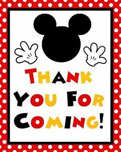 Mickey Mouse Thank You Images Disney Mickey Mouse Stand Up 8 5x11 Thank You for Ing