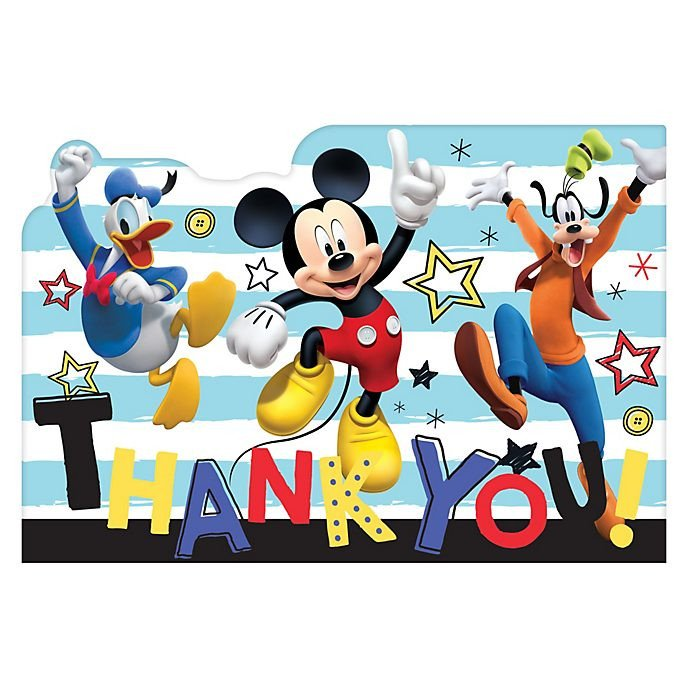 Mickey Mouse Thank You Images Disney Store Mickey Mouse and Friends X8 Thank You Cards