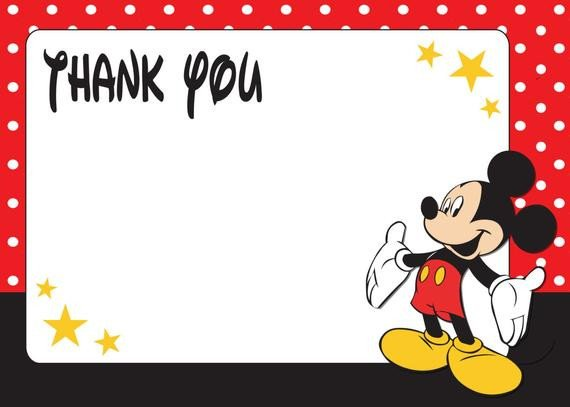 Mickey Mouse Thank You Images Items Similar to Red Mickey Mouse Thank You Tags Pdf File