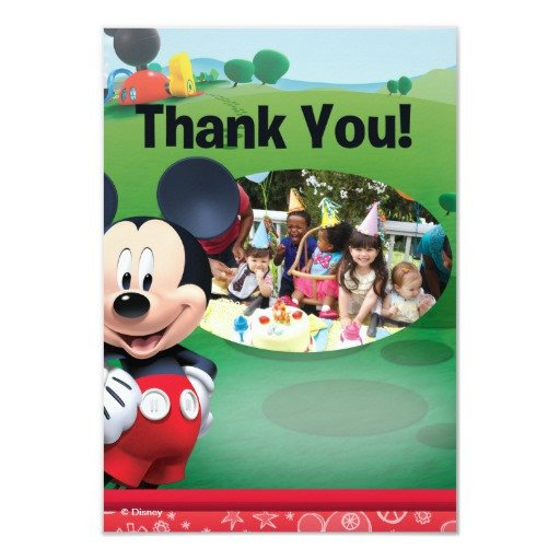 Mickey Mouse Thank You Images Mickey Mouse Birthday Thank You Cards
