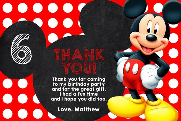 Mickey Mouse Thank You Images Mickey Mouse Clubhouse Invitations