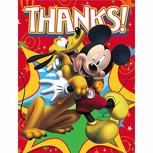 Mickey Mouse Thank You Images Mickey Mouse Party Supplies Postcard Thank You Notes at