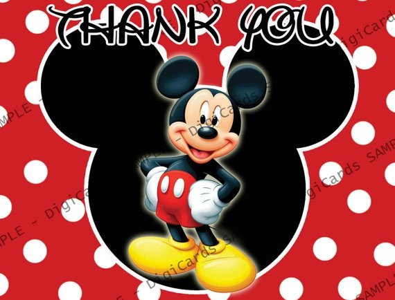 Mickey Mouse Thank You Images Mickey Mouse Thank You Card