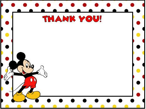 Mickey Mouse Thank You Images Mickey Mouse Thank You Cards
