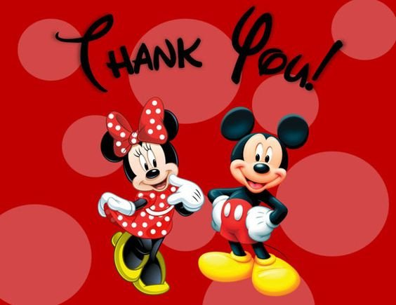 Mickey Mouse Thank You Images Minnie and Mickey Mouse Thank You Cards Printable