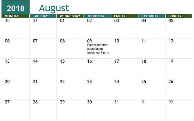 Microsoft Excel Calendar Template the Best Free Microsoft Fice Calendar Templates for the