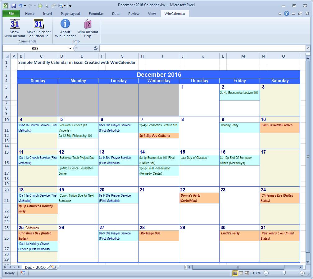 Microsoft Excel Calendar Template Wincalendar Excel Calendar Creator with Holidays