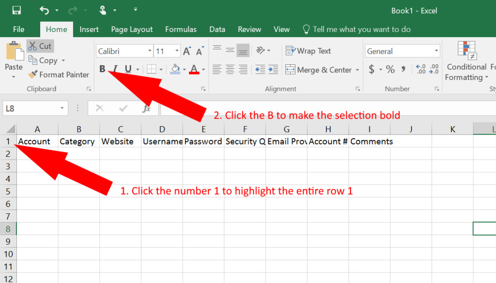 Microsoft Excel Password Template How to Use Excel as A Password Keeper Free Template