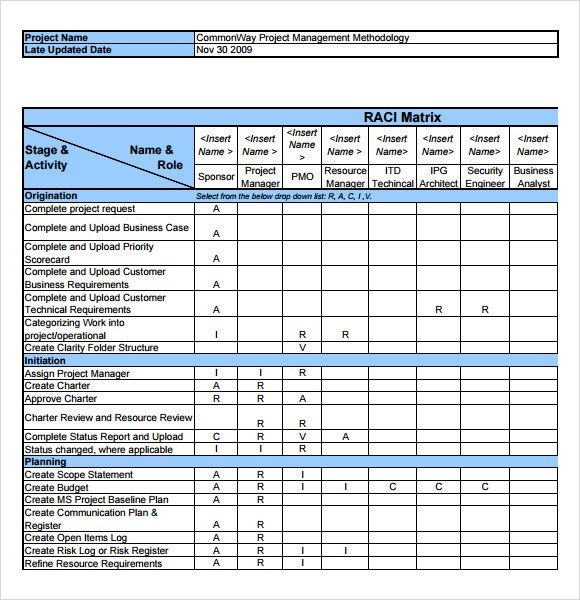 Microsoft Excel Raci Template Sample Raci Chart 7 Free Documents In Pdf Word Excel