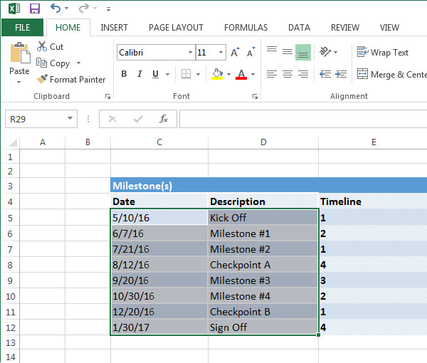 Microsoft Excel Timeline Templates Excel Timeline Tutorial Free Template Export to Ppt