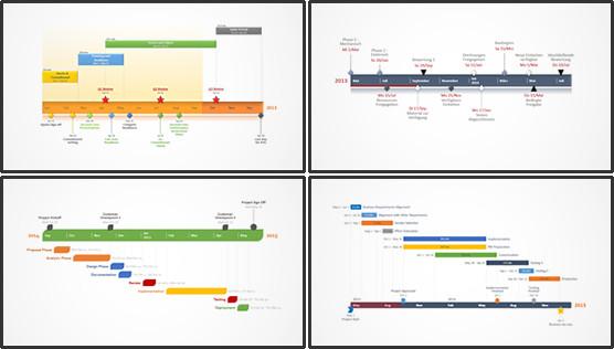 Microsoft Excel Timeline Templates Fice Timeline Gantt Chart software tour