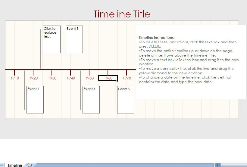 Microsoft Excel Timeline Templates Microsoft Excel Timeline Template