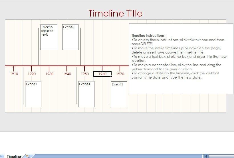 Microsoft Excel Timeline Templates Microsoft Excel Timeline Template