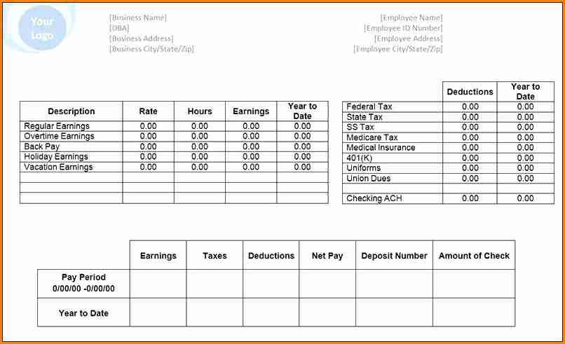Microsoft Office Check Template 6 Pay Stub Template Microsoft Office